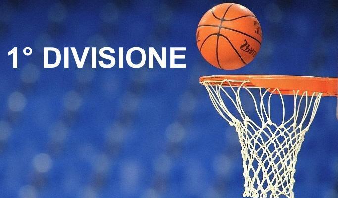 Basket 1° divisione maschile F, 3° giornata andata – 17 novembre 2018